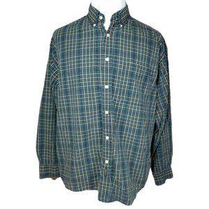 Dockers Vintage 90s Men's Plaid Button Shirt L
